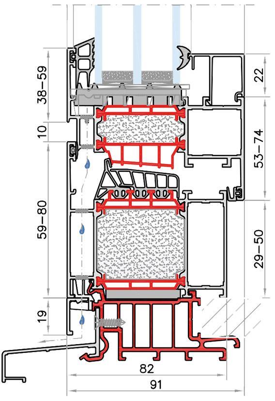 Olympia HI ablakrendszer technikai részletei tervrajz