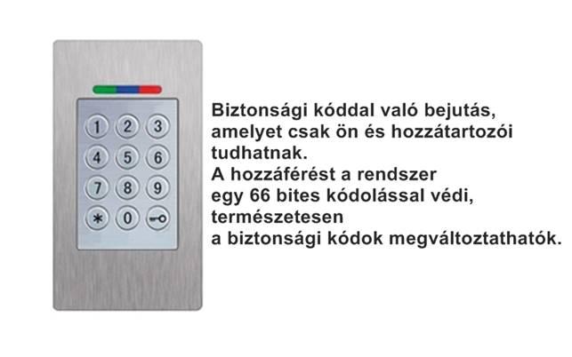 Eneo Doorsafe biztonsági kódos belépőrendszer számokkal