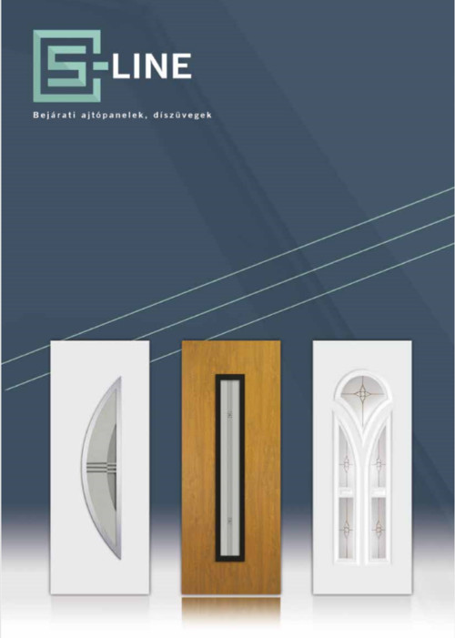 Műanyag S–Line bejárati ajtó katalógus
