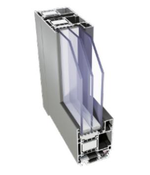 Aliplast Superial 800i+ alumínium bejárati ajtó belső szerkezete