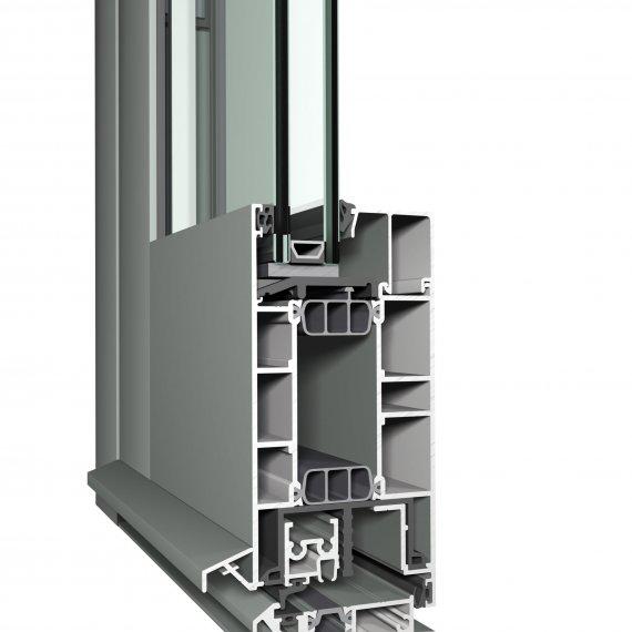 CS 77 alumínium bejárati ajtó szerkezete