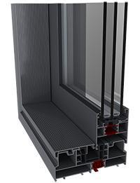 Kolos HI ajtó szerkezete profilból