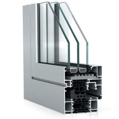 WICONA WICLINE 75 alumínium ablak szerkezete közelről