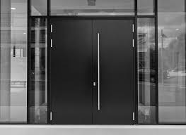 Sötétszürke WICONA WICSTYLE alumínium bejárati ajtó