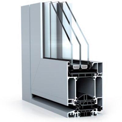 WICONA WICSTYLE 75 EVO alumínium bejárati ajtó belső szerkezete