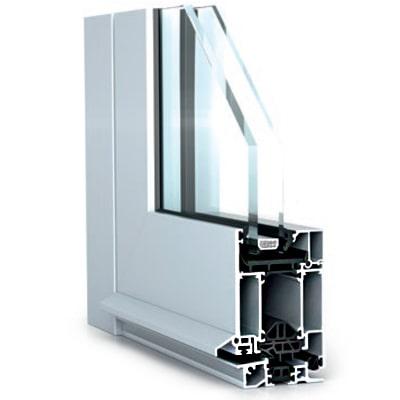 WICONA WICSTYLE 65 EVO alumínium bejárati ajtó belső szerkezete