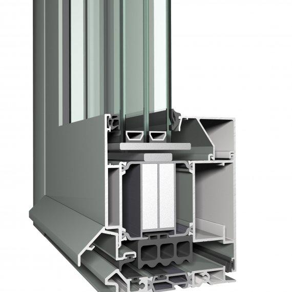 CS 104 alumínium bejárati ajtó szerkezete