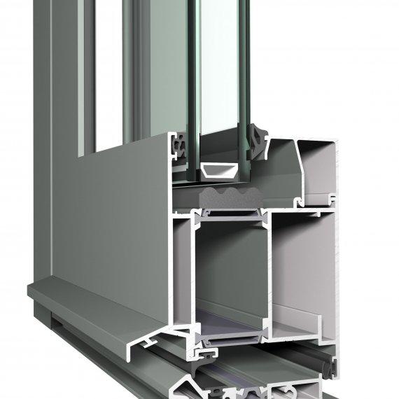 CS 86-HI alumínium bejárati ajtó szerkezete